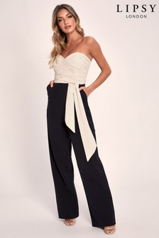 Lipsy schulterfreier Overall