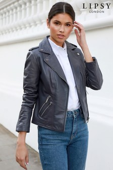 Lipsy Quilted Leather Jacket