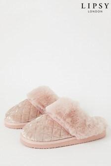 حذاء خف للبيت مبطن فرو صناعي منLipsy