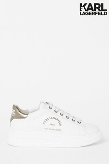 Karl Lagerfeld Kapri Maison Leather Lace Trainer