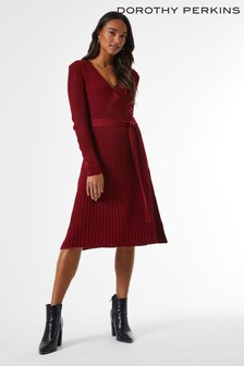 Dorothy Perkins Ribbed Wrap Dress