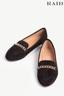 Raid Faux Suede Flat Loafer