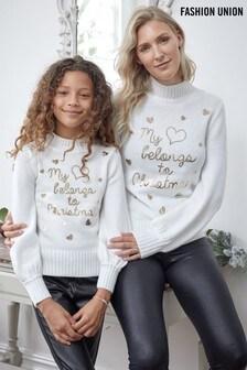 Fashion Union Girls High Neck Christmas Jumper