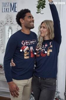 Fashion Union Crew Neck Fine Knit Christmas Jumper