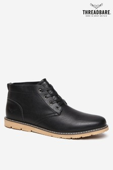 Threadbare Grained Leatherlook Chukka Boot
