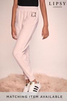 מכנסי טרנינג קטיפתיים של Lipsy בנות עם פאייטים