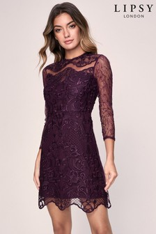 Lipsy Embroidery Detail Shift Dress