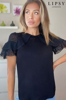 Lipsy Pleated Keyhole Top