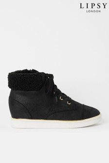 Lipsy Faux Fur Wedge Trainer (Older)