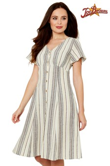 Joe Browns Linen Mix Stripe Dress