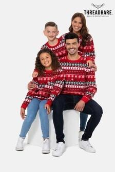 Threadbare Family Mens Fairisle Christmas Jumper