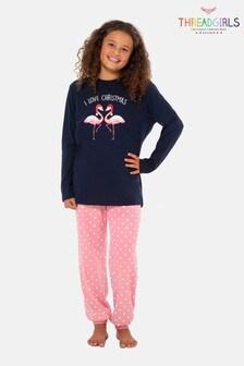 Threadgirls Christmas Flamingo Pyjama Set