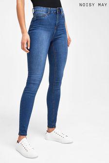 סקיני ג'ינס בגזרה גבוהה של Noisy May