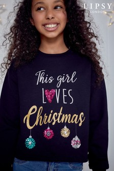 Lipsy Girl Christmas Sweat Top