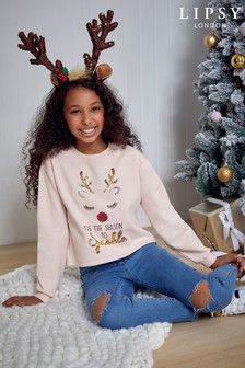 Lipsy Girl Christmas Sweat Top