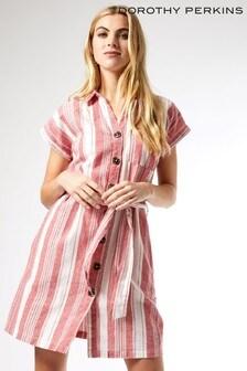Dorothy Perkins Red Stripe Shirt Dress