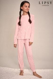 Lipsy Long Sleeve Long Leg Pyjama Set