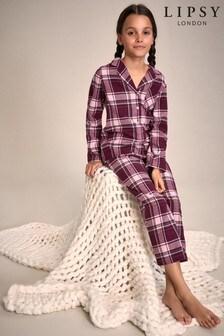 Lipsy Girl Check Pyjama Set