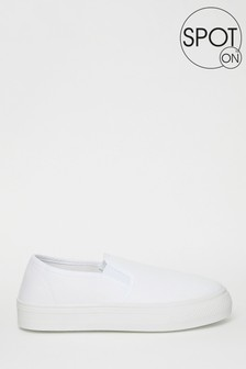 Spot On Slip On Canvas Trainer