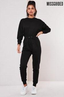 Missguided Drop Shoulder Draw String Waist Jumpsuit (R55212) | $39