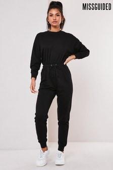 Missguided Drop Shoulder Draw String Waist Jumpsuit
