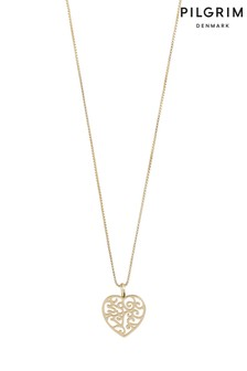 Pilgrim Felice Plated Heart Necklace