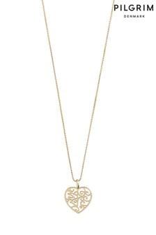 Pilgrim Felice Plattierte Herz-Halskette