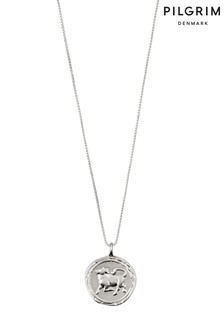 Pilgrim Taurus Zodiac Sign Silver Plated Necklace