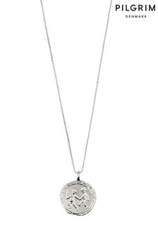 Pilgrim Gemini Zodiac Sign Silver Plated Necklace