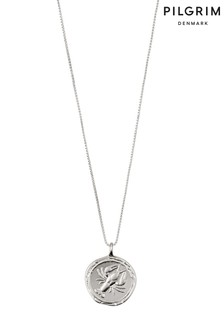 Pilgrim Cancer Zodiac Sign Silver Plated Necklace