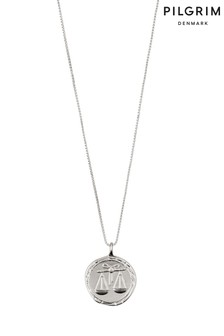 Pilgrim Libra Zodiac Sign Silver Plated Necklace