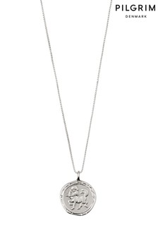 Pilgrim Sagittarius Zodiac Sign Silver Plated Necklace