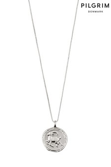 Pilgrim Capricorn Zodiac Sign Silver Plated Necklace
