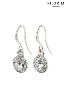Pilgrim Clementine Plated Halo Earrings