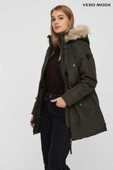 Vero Moda Faux Fur Hooded Parka Jacket