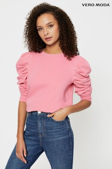 Vero Moda Puff Sleeve Sweatshirt