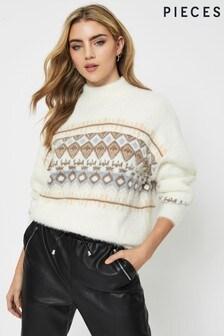 Pieces Fairisle Knitted Jumper