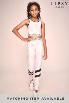 Lipsy Mädchen Active Leggings mit Netzeinsatz