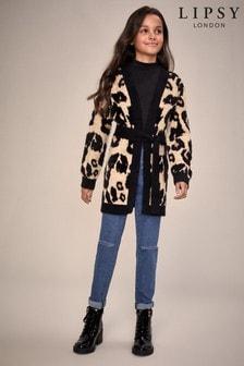 Lipsy Leopard Belted Cardigan