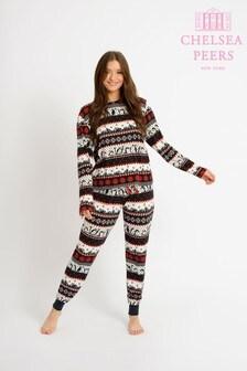 Chelsea Peers Langärmeliges, bedrucktes Pyjamaset