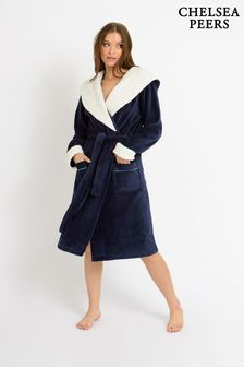 Chelsea Peers NYC Borg Lined Super Soft Fleece Dressing Gown