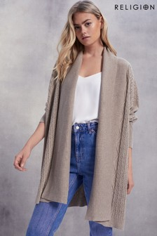 Religion Passion Cable Cardigan