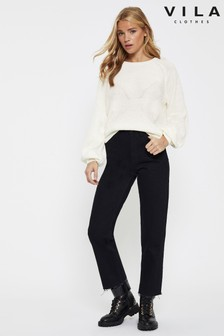 Vila Balloon Sleeve Jumper