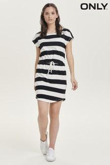 שמלה בהדפס פסים שלOnly