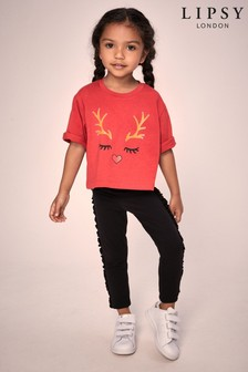 Lipsy Mini Girl Christmas Tee & Legging Set