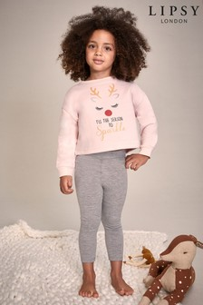 Lipsy Mini Girl Christmas Sweat & Legging Set