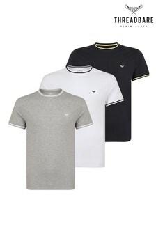 Threadbare T-Shirts mit Markenlogo im 3er-Pack
