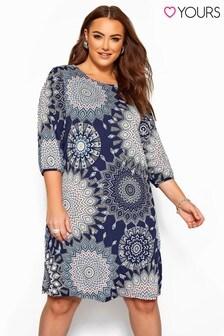 Yours Curve Geo Sleeve Shirt Dress