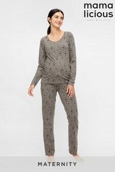 Mamalicious Maternity Nursing Star Print Pyjama Set