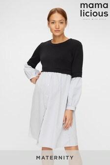 Mamalicious Maternity 2 in 1 Jumper Shirt Dress